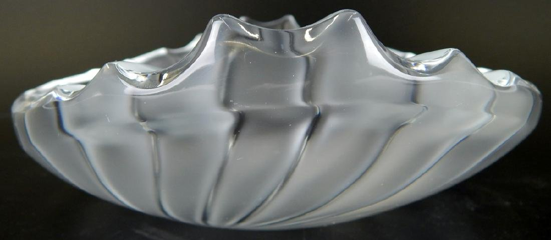 LALIQUE NANCY RARE FROSTED RETIRED BOWL/TRAY - 6
