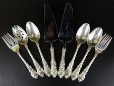 8pc WALLACE SIR CHRISTOPHER STERLING SERVING ITEMS