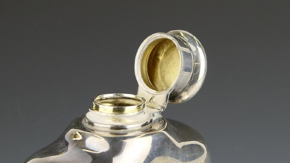 """TIFFANY & CO STERLING SILVER LARGE """"8 GILLS"""" FLASK - 3"""