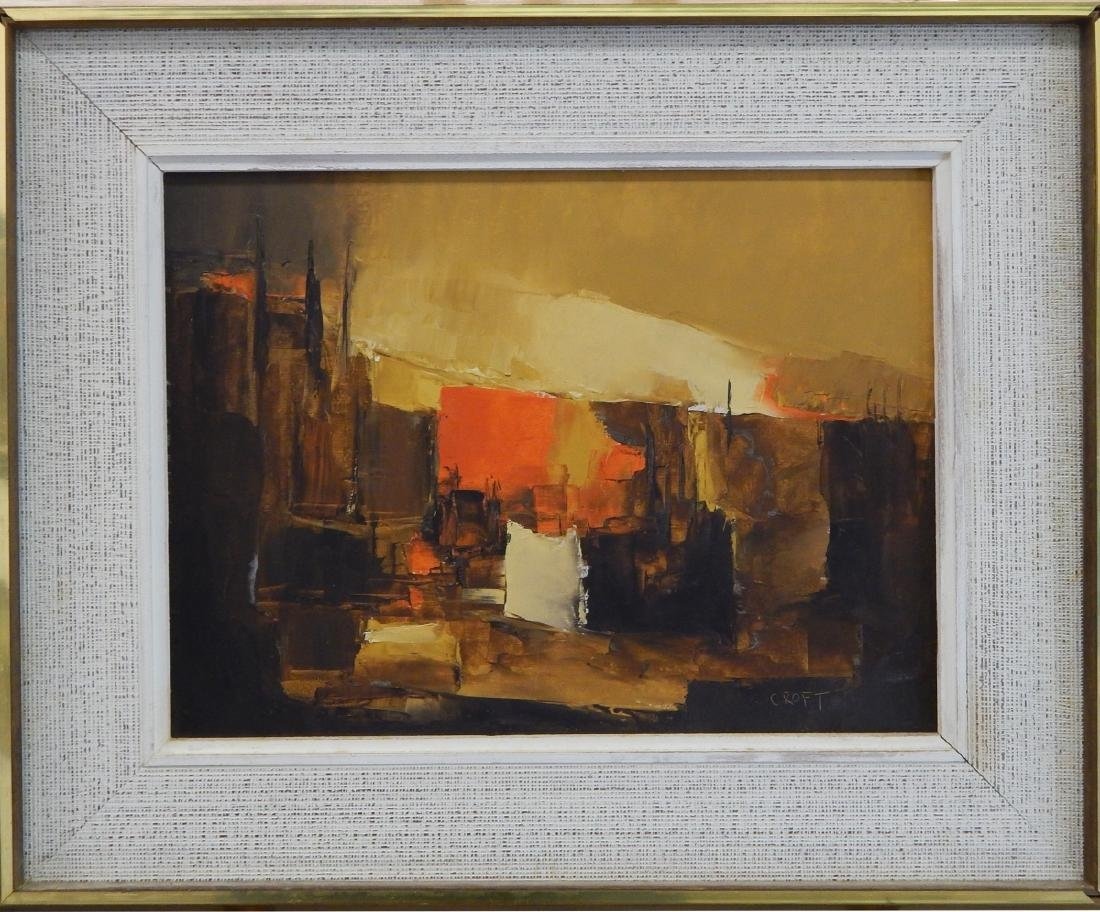 LEWIS CROFT (CANADA / USA 1911-1980) OIL ON BOARD