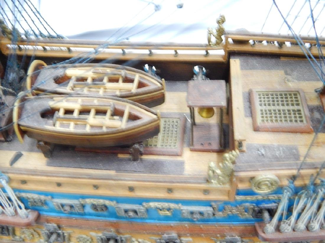 SCALE MODEL OF A DETAILED  BRITISH WAR SHIP - 10