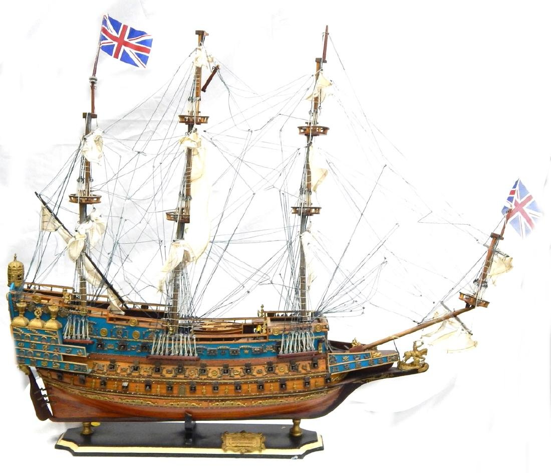 SCALE MODEL OF A DETAILED  BRITISH WAR SHIP