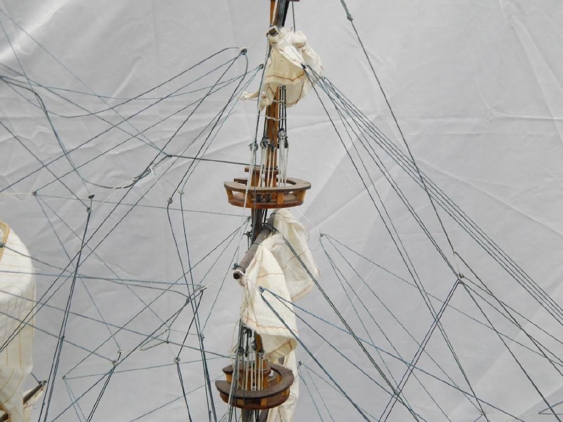 SCALE MODEL OF A DETAILED  BRITISH WAR SHIP - 6