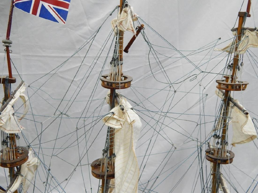 SCALE MODEL OF A DETAILED  BRITISH WAR SHIP - 7