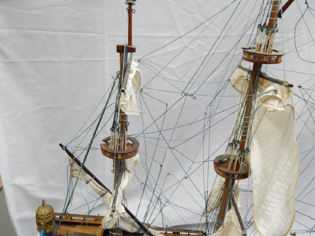 SCALE MODEL OF A DETAILED  BRITISH WAR SHIP - 8