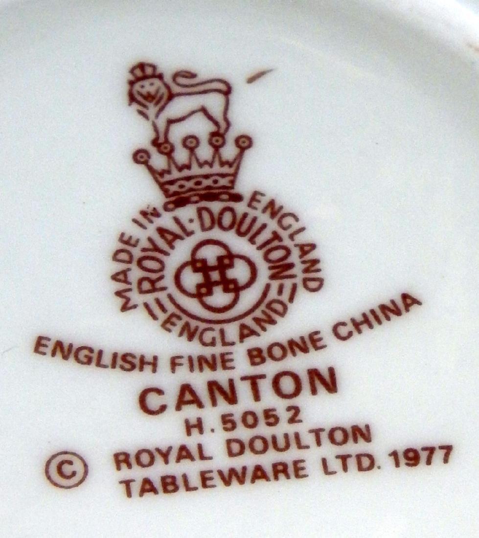 "HUGE SET 106 PIECE ROYAL DOULTON ""CANTON"" CHINA - 4"