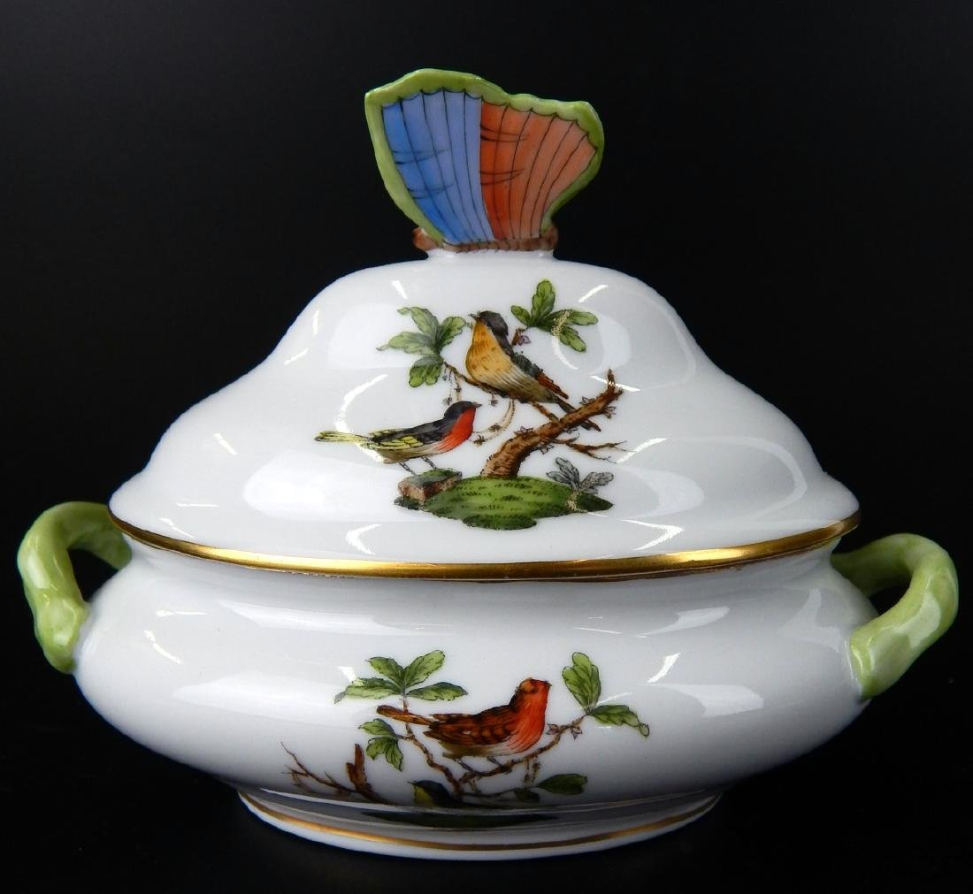 HEREND QUEEN VICTORIA COVERED PORCELAIN TUREEN