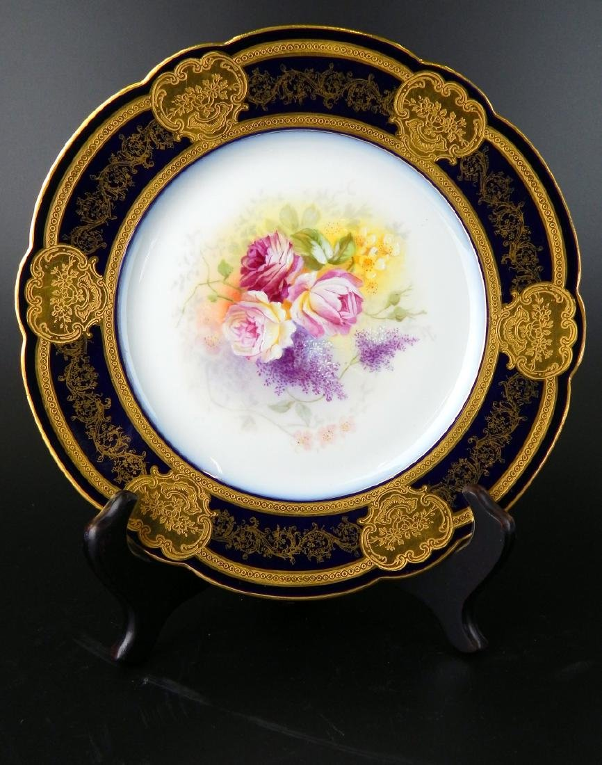 LOVELY 19TH CENTURY HAND PAINTED LIMOGES PLATE