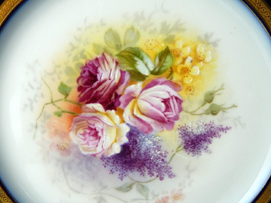 LOVELY 19TH CENTURY HAND PAINTED LIMOGES PLATE - 4