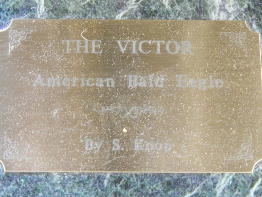 "SANDRA KOOP (AMERICAN 20th/21st C) ""VICTOR"" BRONZE - 4"