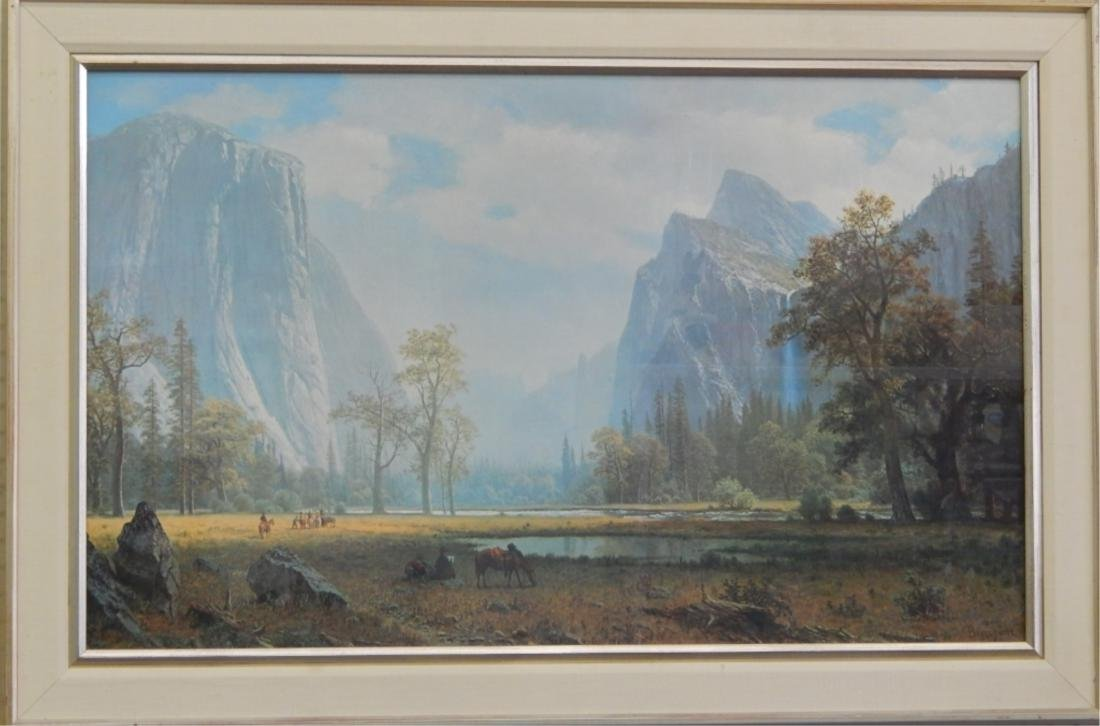 ALBERT BIERSTADT MOUNTAIN LANDSCAPE PRINT FRAMED