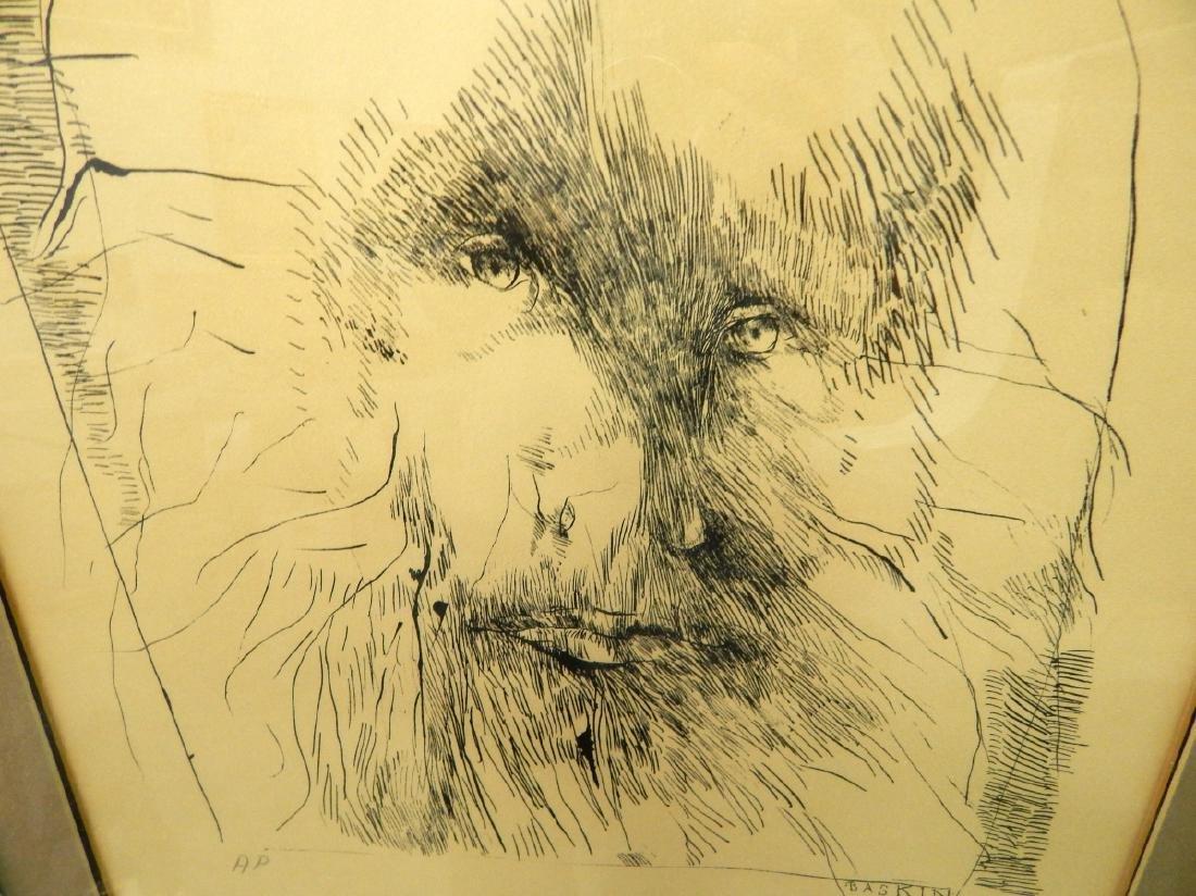 LEONARD BASKIN 1970 LITHOGRAPH ARTIST PROOF - 3