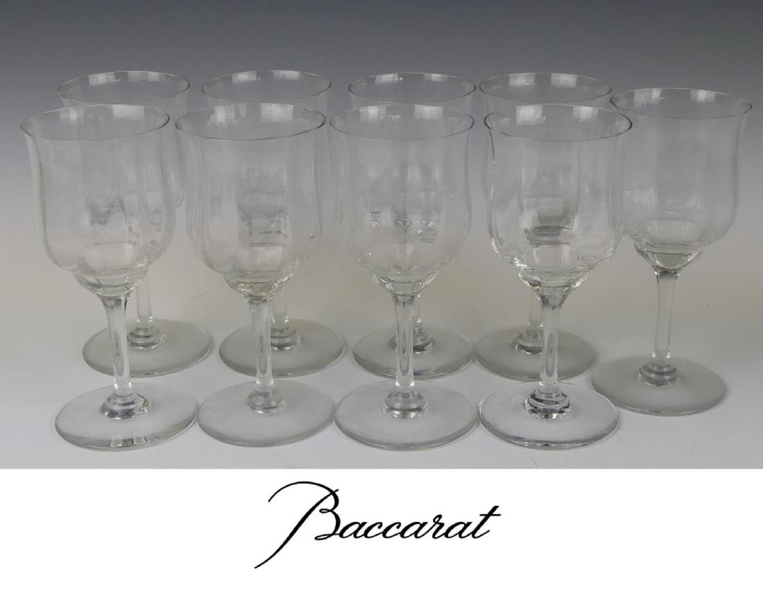 9 BACCARAT FRENCH CRYSTAL STEMWARE GLASSES