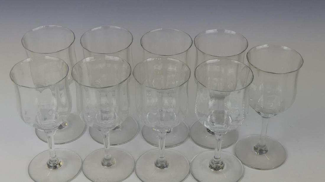 9 BACCARAT FRENCH CRYSTAL STEMWARE GLASSES - 2