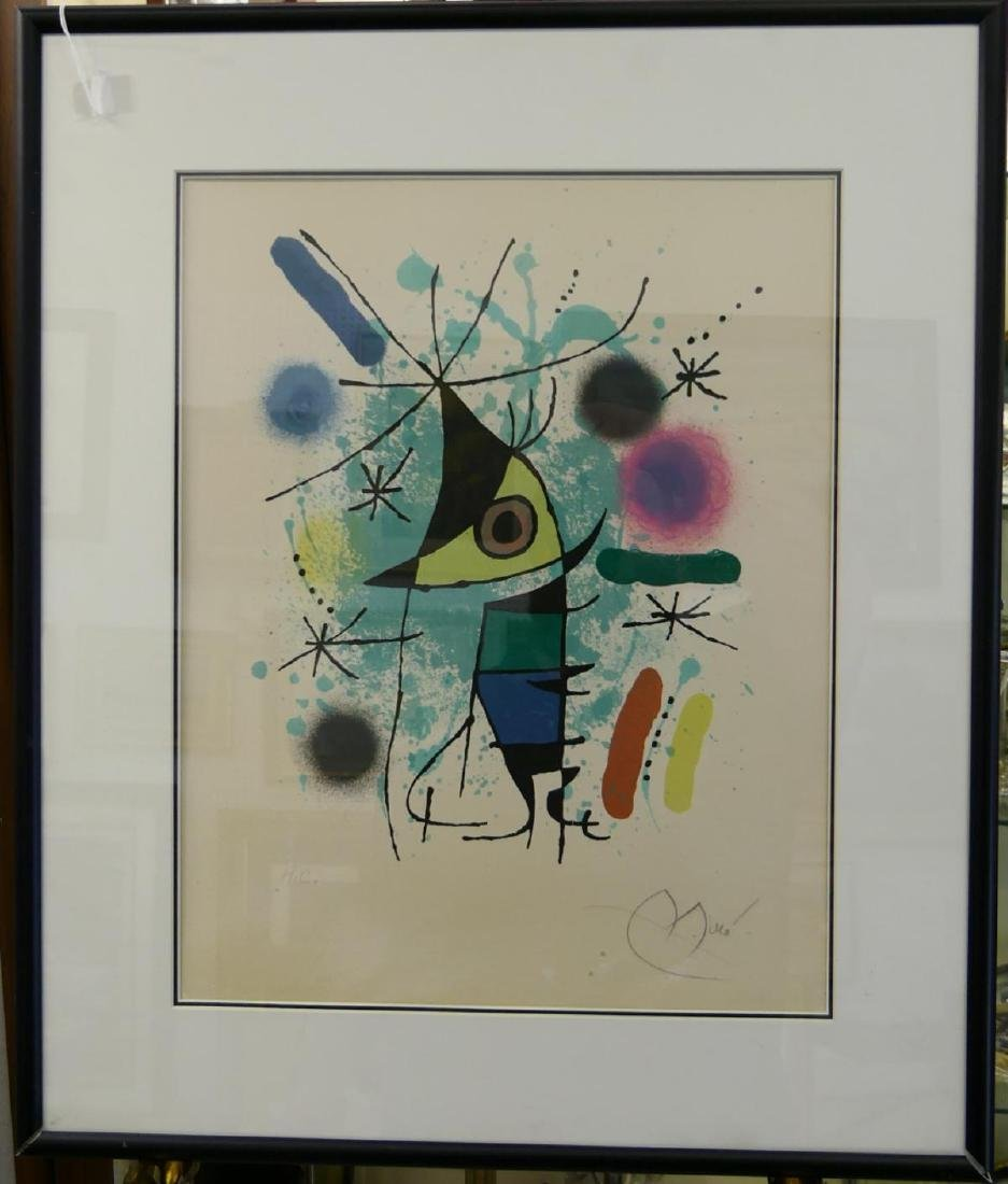 JOAN MIRO PENCIL SIGNED HORS COMMERCE LITHOGRAPH