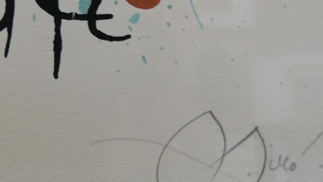 JOAN MIRO PENCIL SIGNED HORS COMMERCE LITHOGRAPH - 7