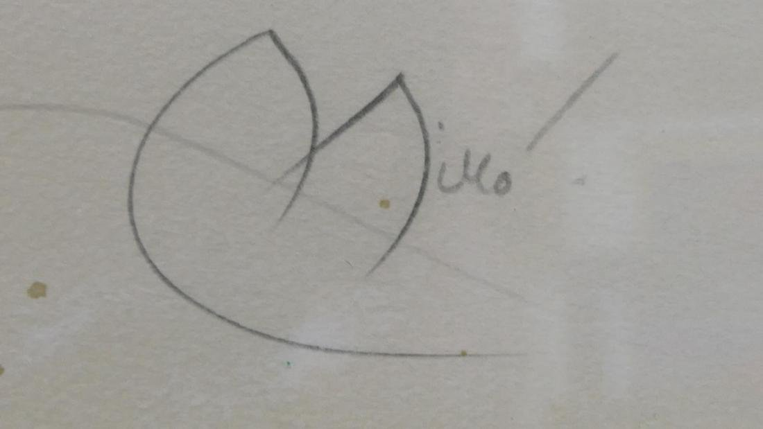 JOAN MIRO PENCIL SIGNED HORS COMMERCE LITHOGRAPH - 8