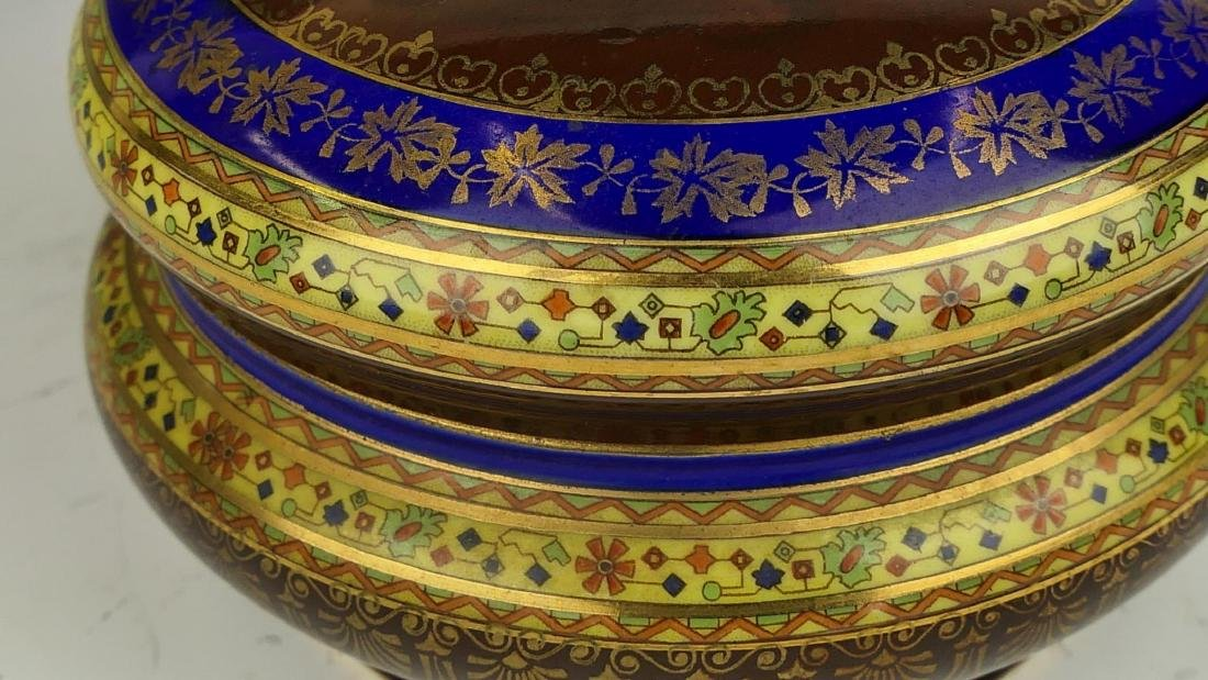 19th C ROYAL VIENNA HAND PAINTED PORCELAIN BOX - 3