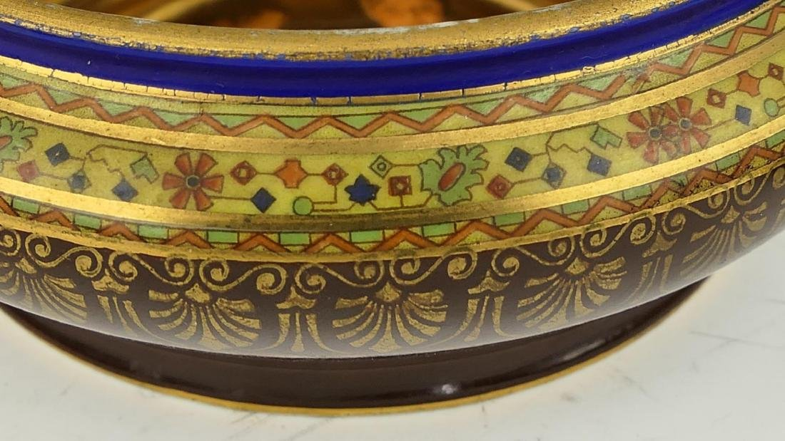 19th C ROYAL VIENNA HAND PAINTED PORCELAIN BOX - 9