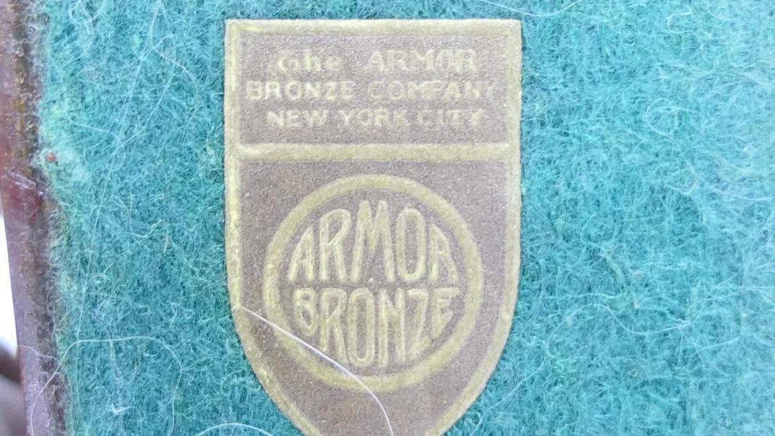 """PAIR OF ART DECO ARMOR BRONZE """"SPHINX"""" BOOKENDS - 5"""
