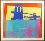 "ANDY WARHOL (USA 1928-1987) ""BROOKLYN BRIDGE"""