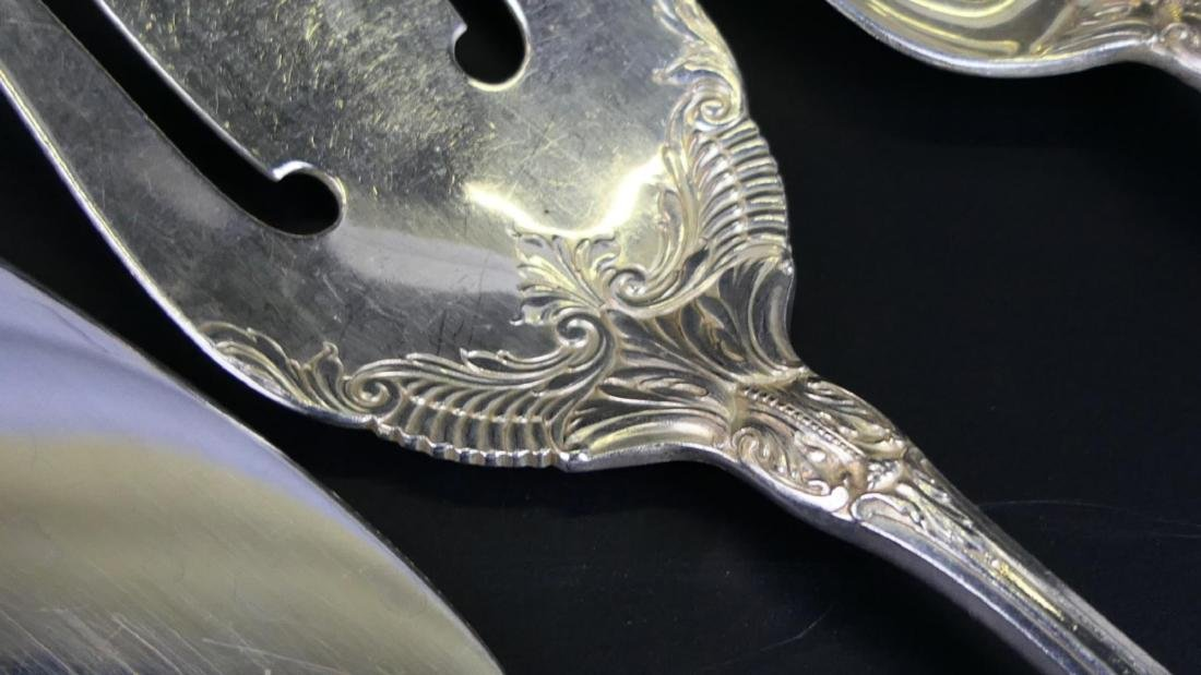 """5 WALLACE """"SIR CHRISTOPHER"""" STERLING SERVING ITEMS - 4"""