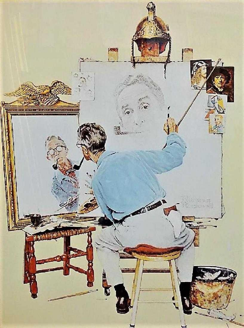 "NORMAN ROCKWELL PRINT ""TRIPLE SELF PORTRAIT"" - 2"