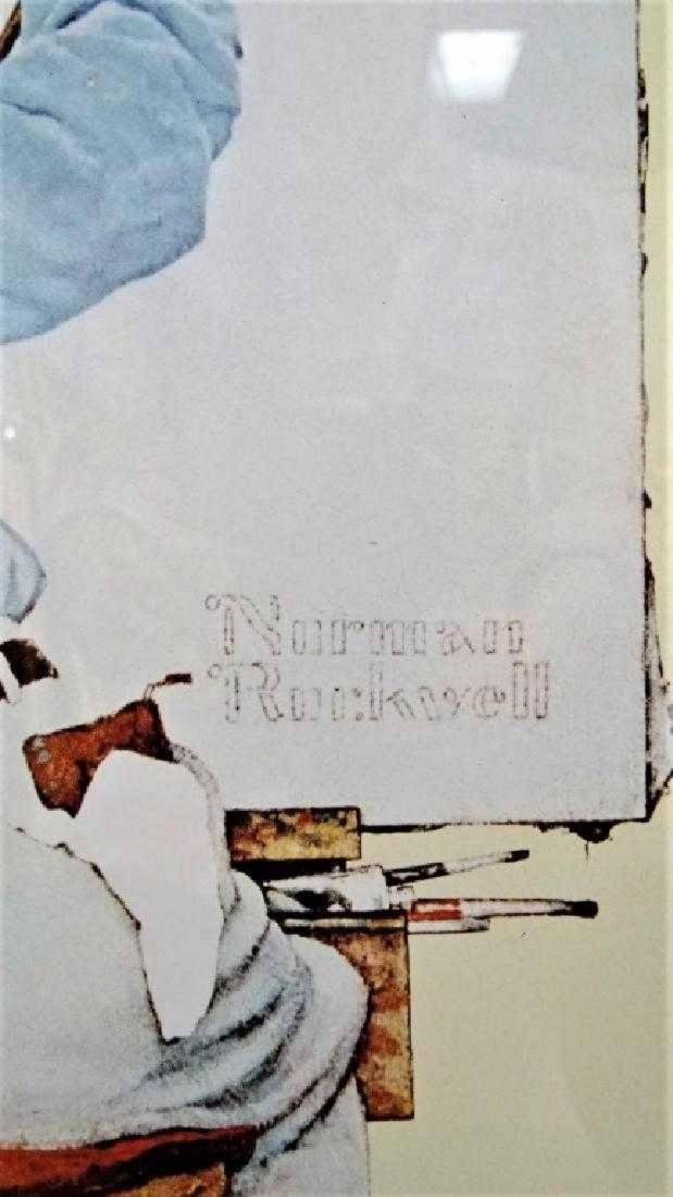 "NORMAN ROCKWELL PRINT ""TRIPLE SELF PORTRAIT"" - 3"