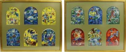 2pc THE JERUSALEM WINDOWS BY MARC CHAGALL