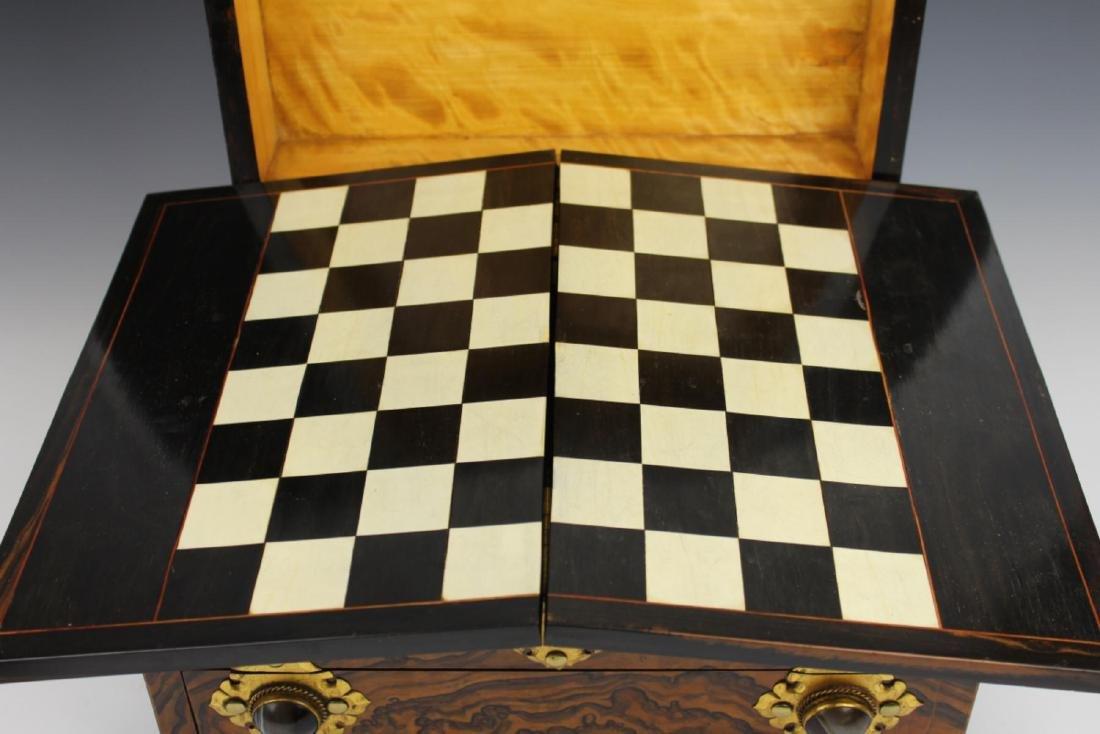 ANTIQUE ENGLISH MAPPIN & WEBB BURLWOOD GAME BOX - 7