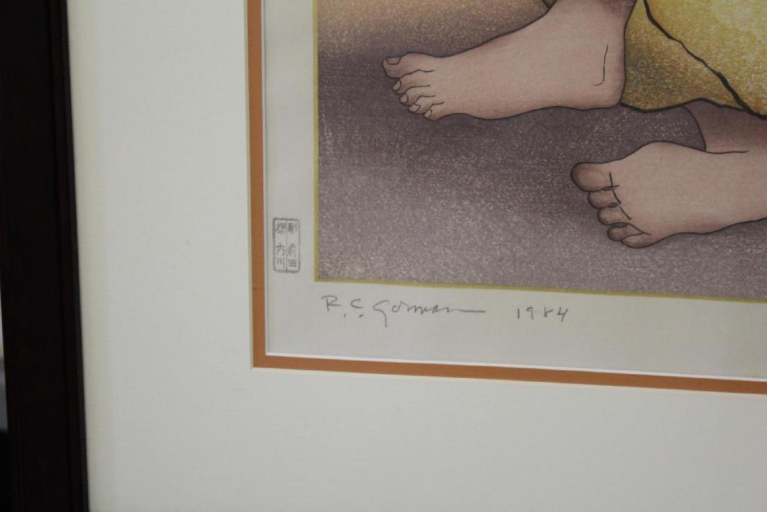 R C GORMAN (USA 1932-2005) SIGNED LITHOGRAPH 1984 - 2