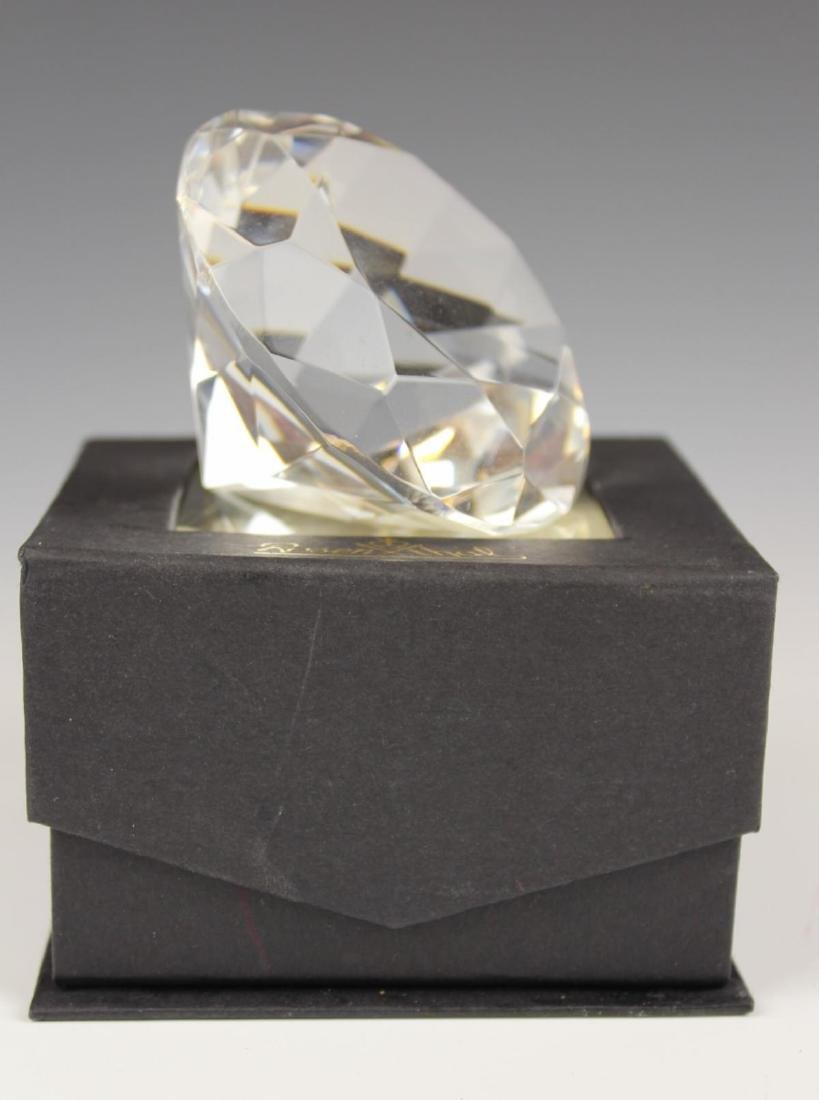ROSENTHAL CRYSTAL DIAMOND FORM PAPERWEIGHT