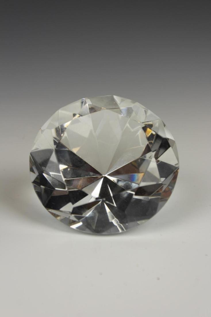 ROSENTHAL CRYSTAL DIAMOND FORM PAPERWEIGHT - 2