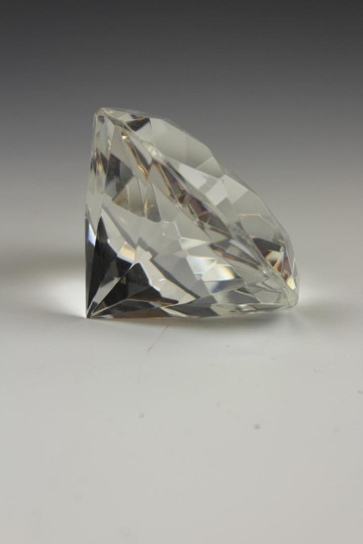 ROSENTHAL CRYSTAL DIAMOND FORM PAPERWEIGHT - 3