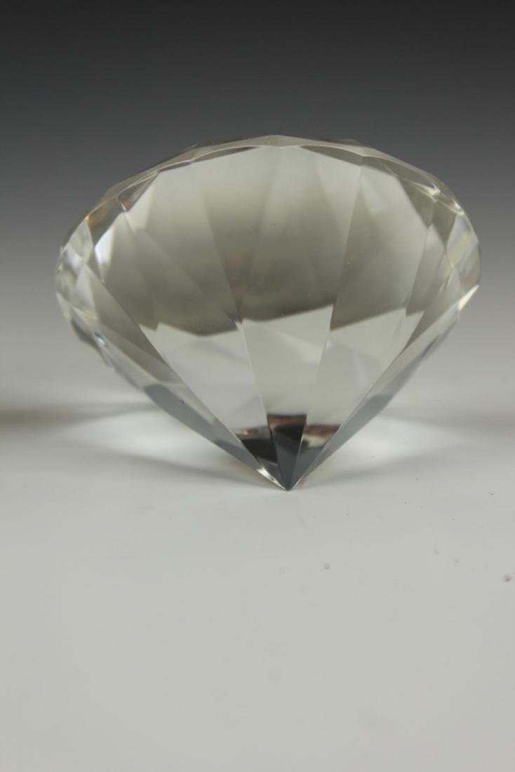 ROSENTHAL CRYSTAL DIAMOND FORM PAPERWEIGHT - 4