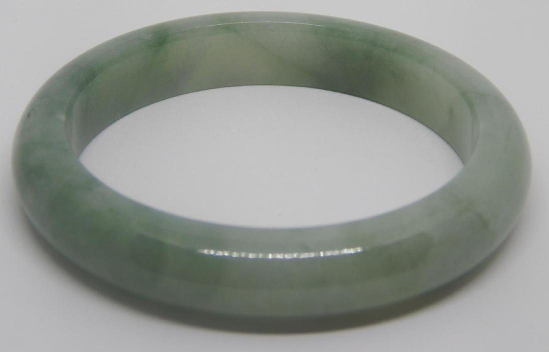 0670d32cc37df CHINESE GREEN & WHITE JADEITE JADE BANGLE BRACELET