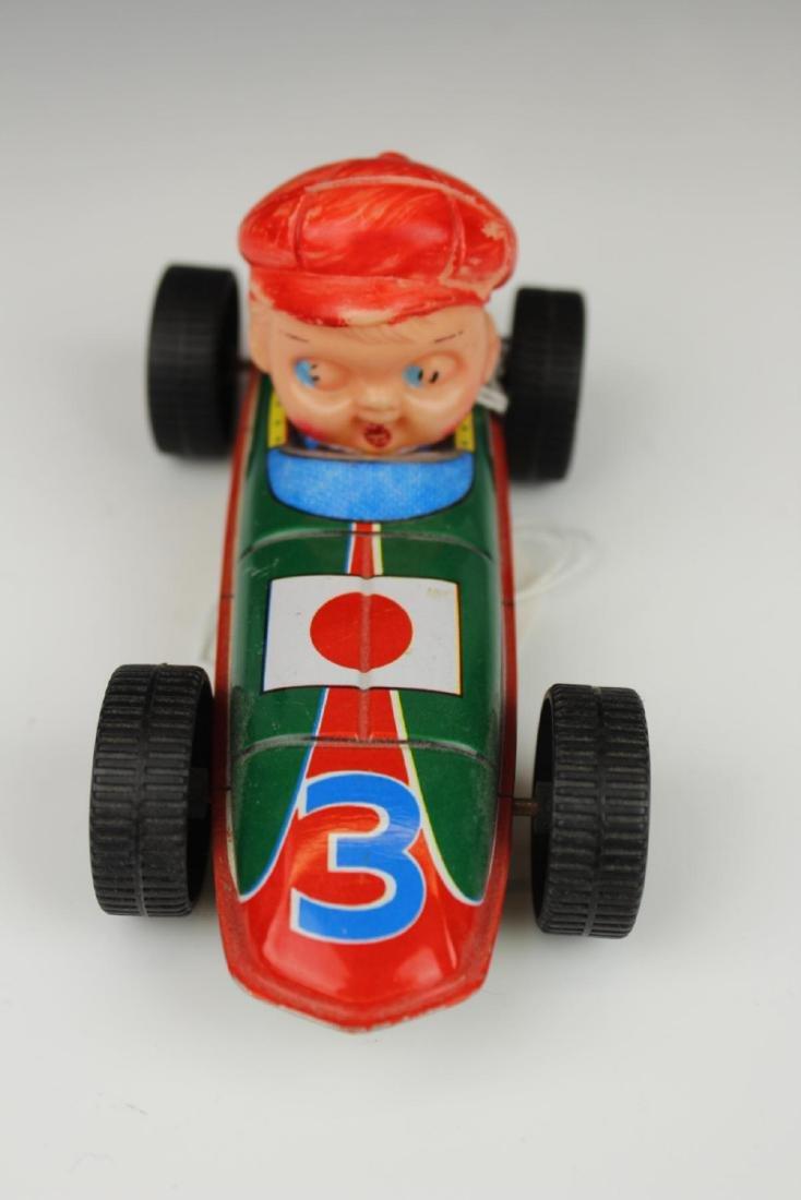 VINTAGE TIN RACE CAR DRIVER TOY - 2