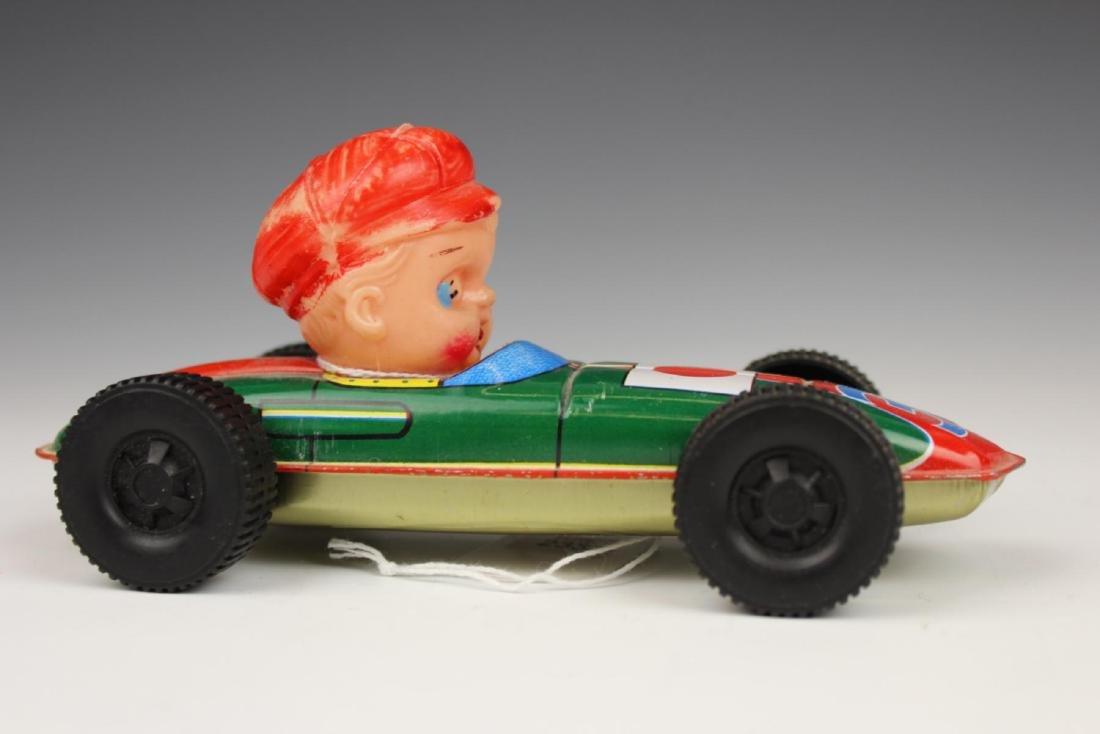 VINTAGE TIN RACE CAR DRIVER TOY - 3