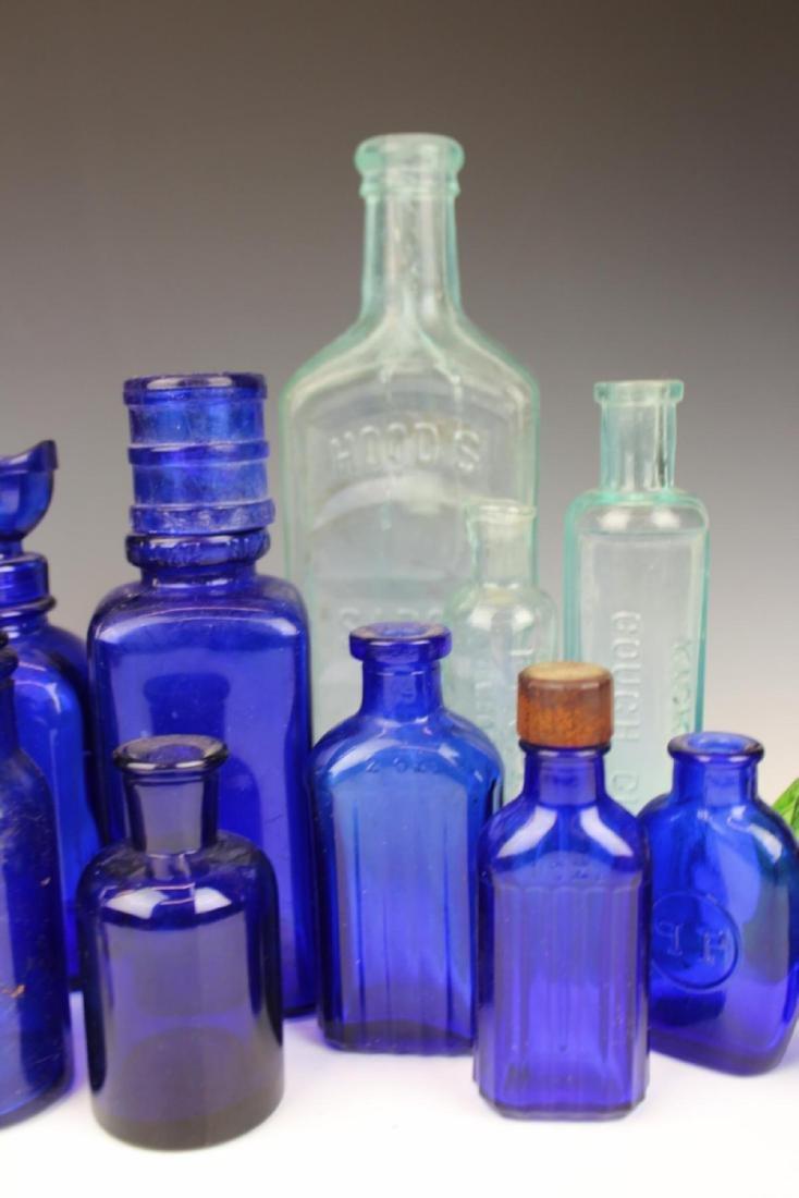 22 ANTIQUE GLASS MEDICINE BOTTLES - 4