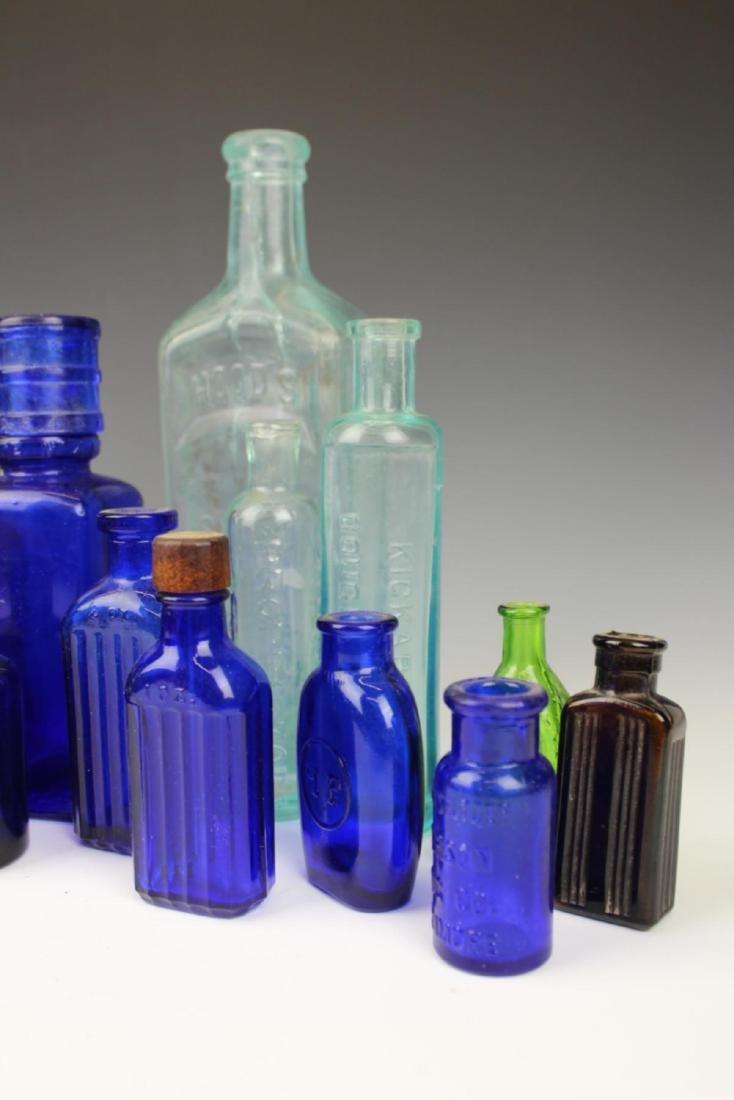22 ANTIQUE GLASS MEDICINE BOTTLES - 5