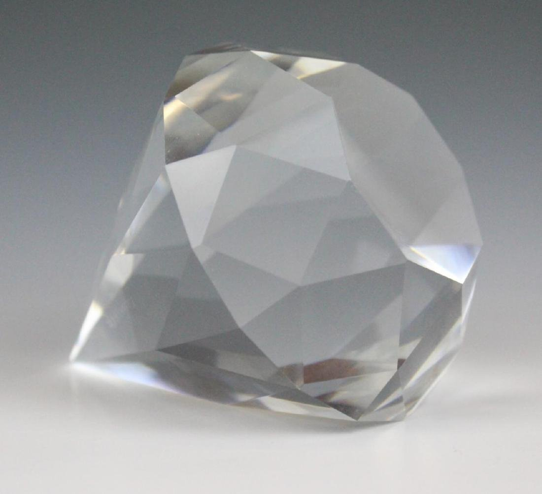 TIFFANY & CO CRYSTAL DIAMOND PAPER WEIGHT