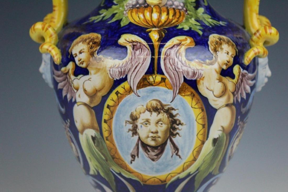 ANTIQUE GINORI TRADITIONAL PORCELAIN ITALIAN VASE - 3