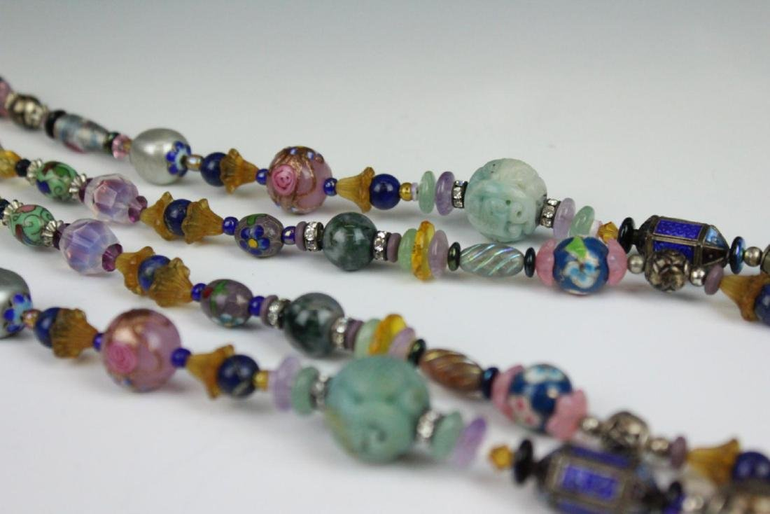 HEAVY STERLING ETHNIC NECKLACE WITH PRECIOUS STONE - 8