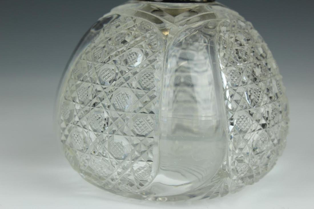 ANTIQUE ENGLISH STERLING SILVER PERFUME BOTTLE - 3