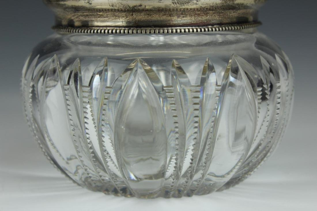 GORHAM STERLING SILVER TOP CUT CRYSTAL DRESSER BOX - 3