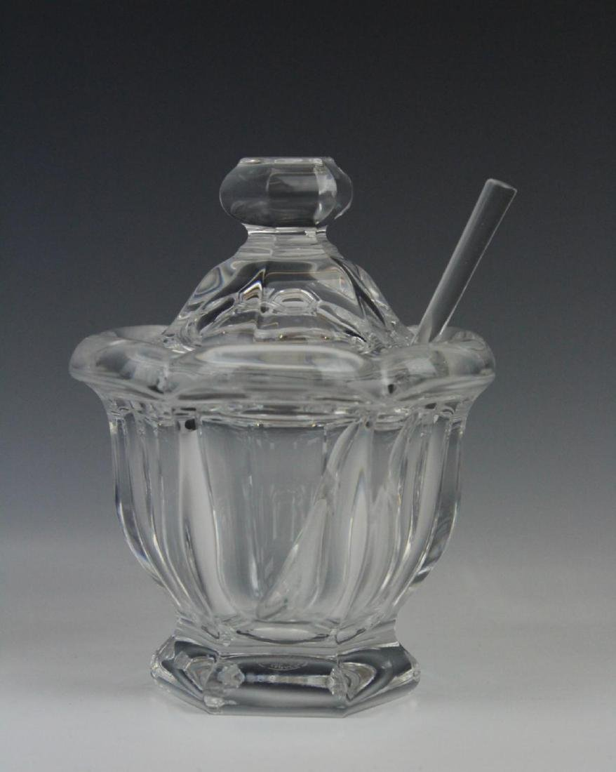 BACCARAT FRENCH CRYSTAL COVERED JAM JAR