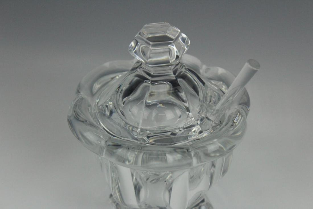 BACCARAT FRENCH CRYSTAL COVERED JAM JAR - 2