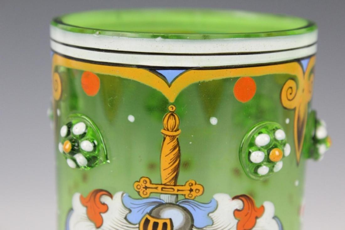 MOSER ENAMELED GLASS W/ CREST - 2