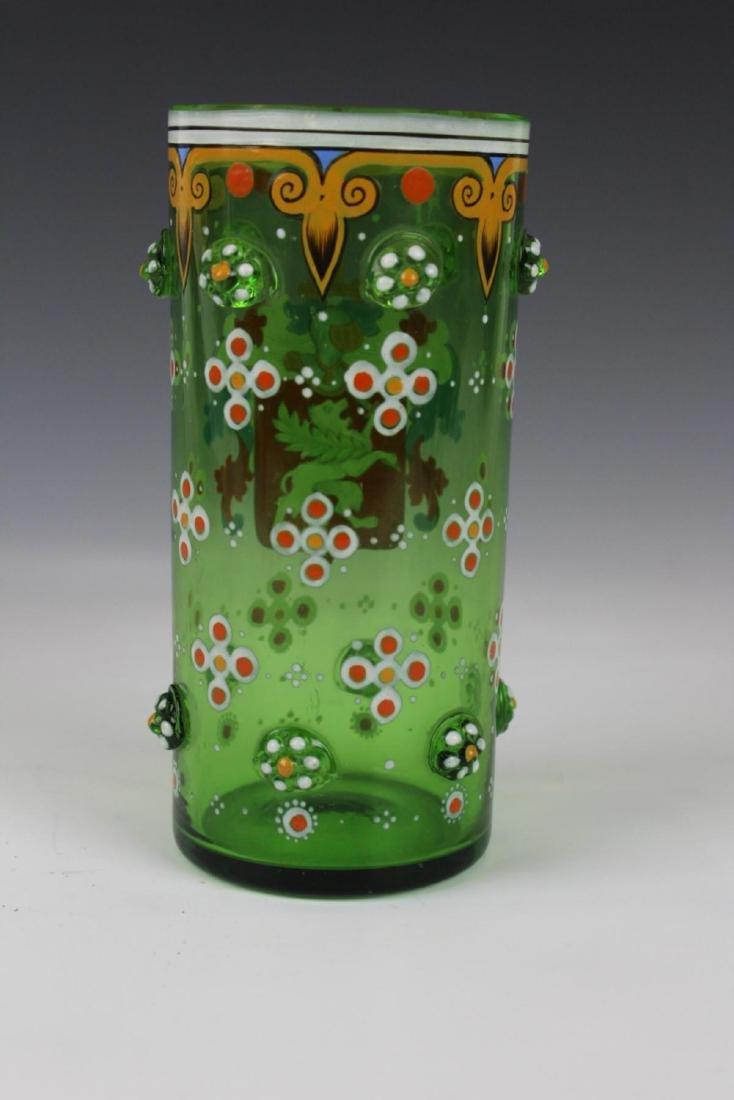 MOSER ENAMELED GLASS W/ CREST - 5