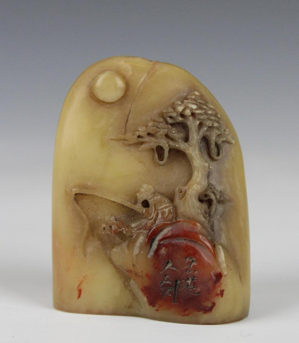 CHINESE HAND CARVED SHOUSHAN CHOPSEAL